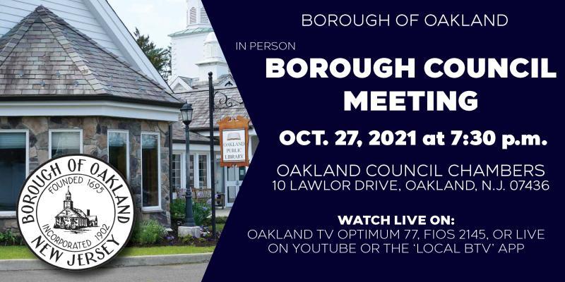Borough Council Meeting 10 27 2021
