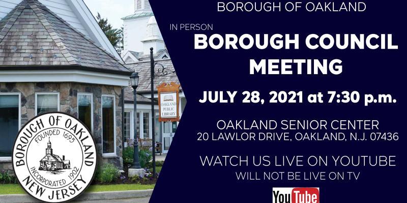 Borough Council Meeting 7 28 2021