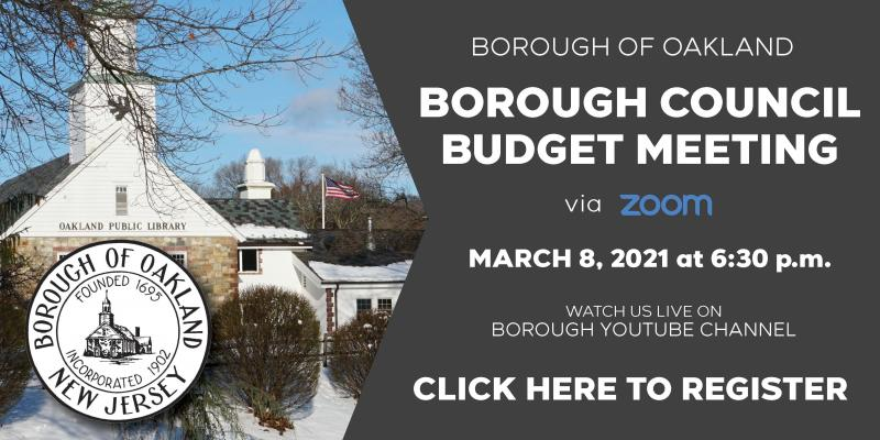 Budget Meeting 3 8 2021