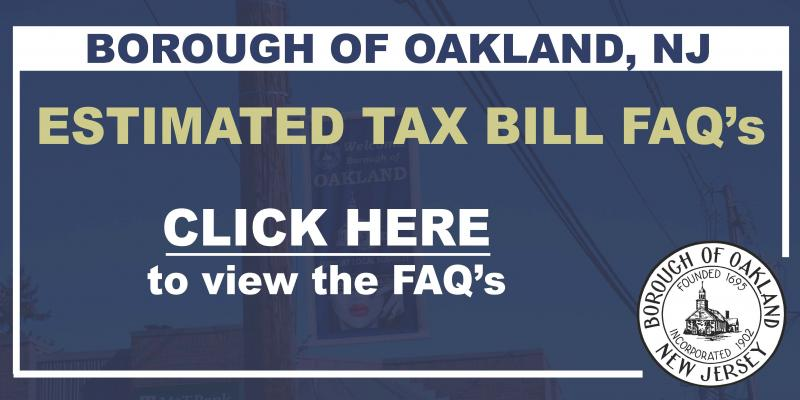 Estimated Tax Bills - 2020